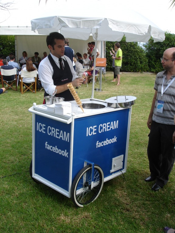 Facebook branded ice cream
