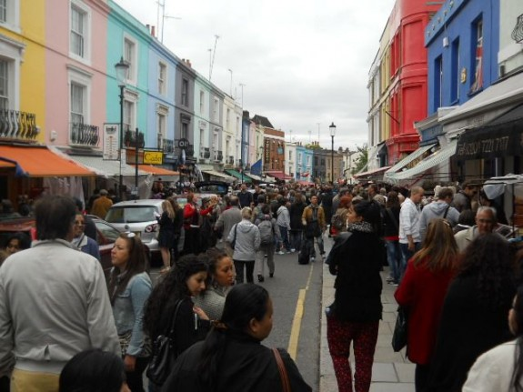Stand clear of the pushy crowds. Saturdays at Portobello Market are jam-packed with tourists and Londoners.