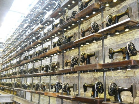 AllSaints clothing store has more antique sewing machines than you could ever imagine.  The view just from the front door is a heavy sight.