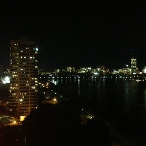 A view of Boston from across the Charles River.