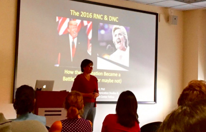 Dr. Tammy Vigil Tackles Political Communication Themes at 2016 Communication Research Colloquium